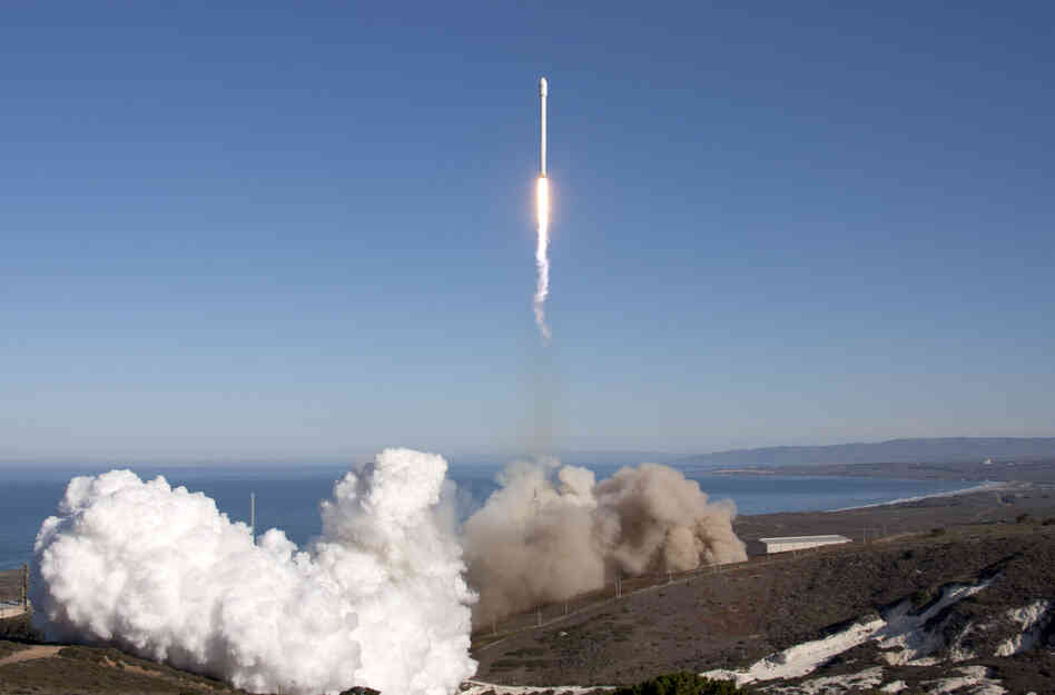 SpaceX launched an upgraded version of its Falcon 9 rocket Sept. 30 from Vandenberg Air Force Base in California, northwest of Los Angeles.