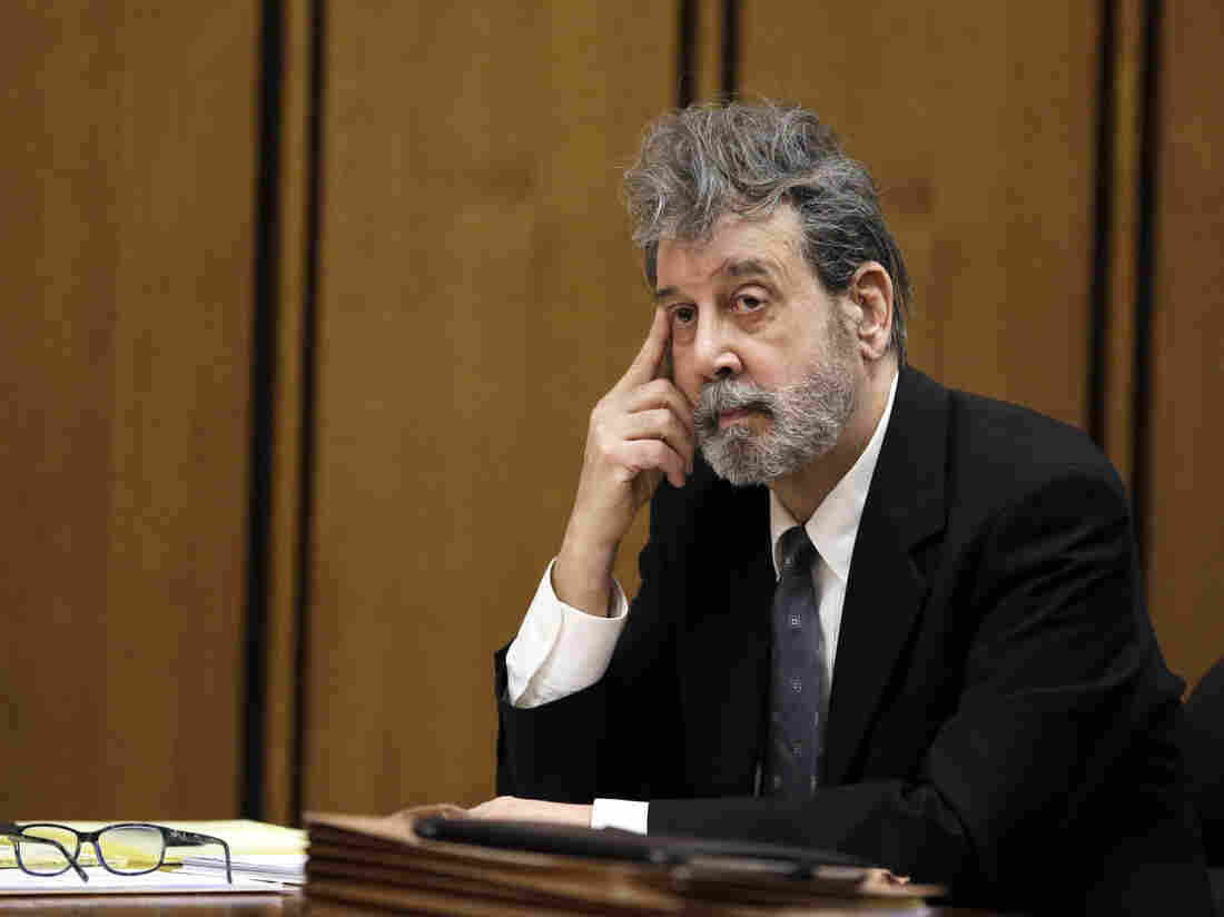 The defendant known as Bobby Thompson listens to court proceedings in Cleveland on Monday.