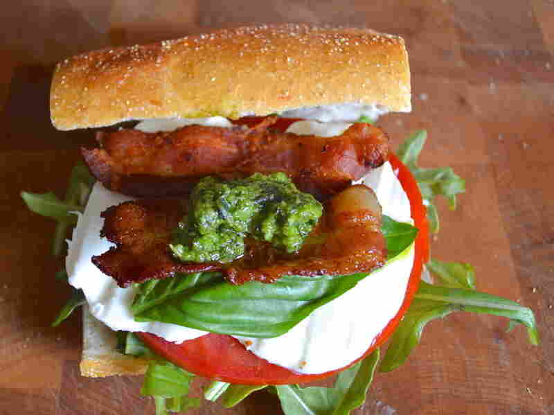 """Weekend Productivity"" Mozzarella and Homemade Pesto BLT"