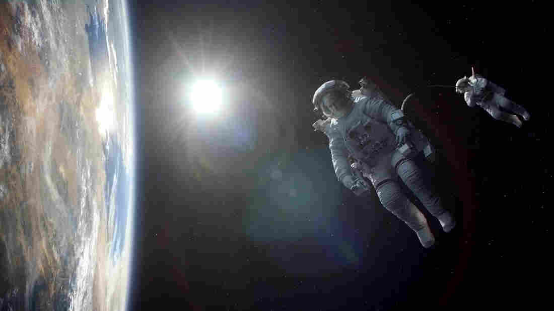 George Clooney and Sandra Bullock play astronauts marooned in space in Gravity, a visual marvel of a movie from director Alfonso Cuaron.