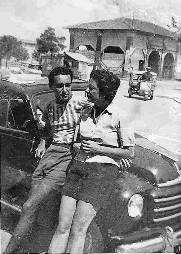 Marcella Polini and Victor Hazan in 1952, pictured in her hometown of Cesenatico, Italy, shortly after they met.
