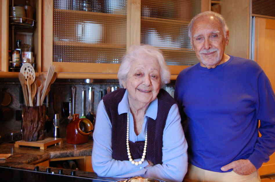 Marcella Hazan and her husband, Victor, in the kitchen of their home in Longboat Key, Fla.