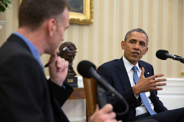 President Obama is interviewed Monday in the Oval Office by Steve Inskeep for NPR's Morning Edition.