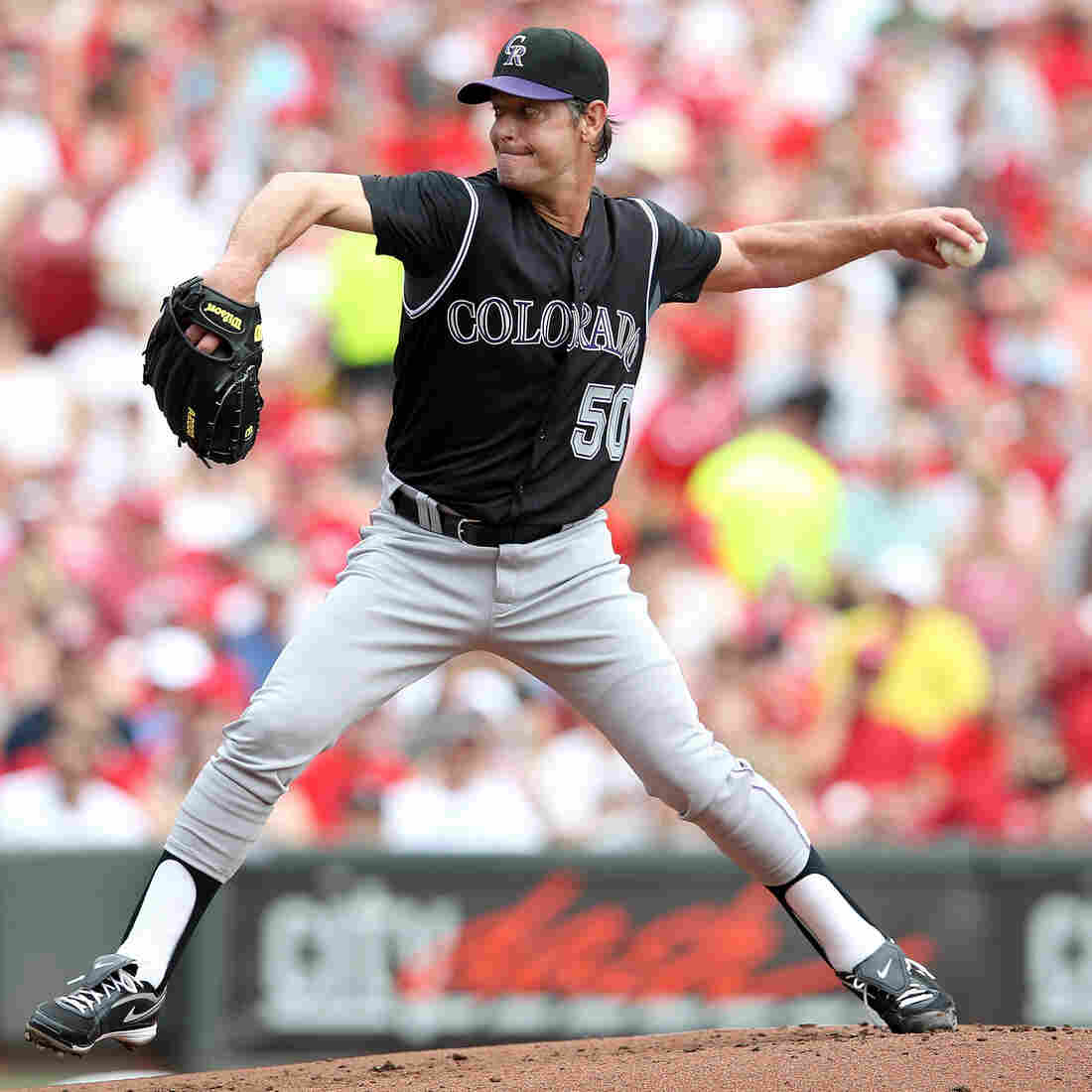 "Jamie Moyer, shown above pitching for the Colorado Rockies in May 2012, made his major league debut back in 1986. He says that after decades in the major leagues, he'd occasionally have to remind himself that ""in baseball terms, I really was old, but in everyday life, I really wasn't."""