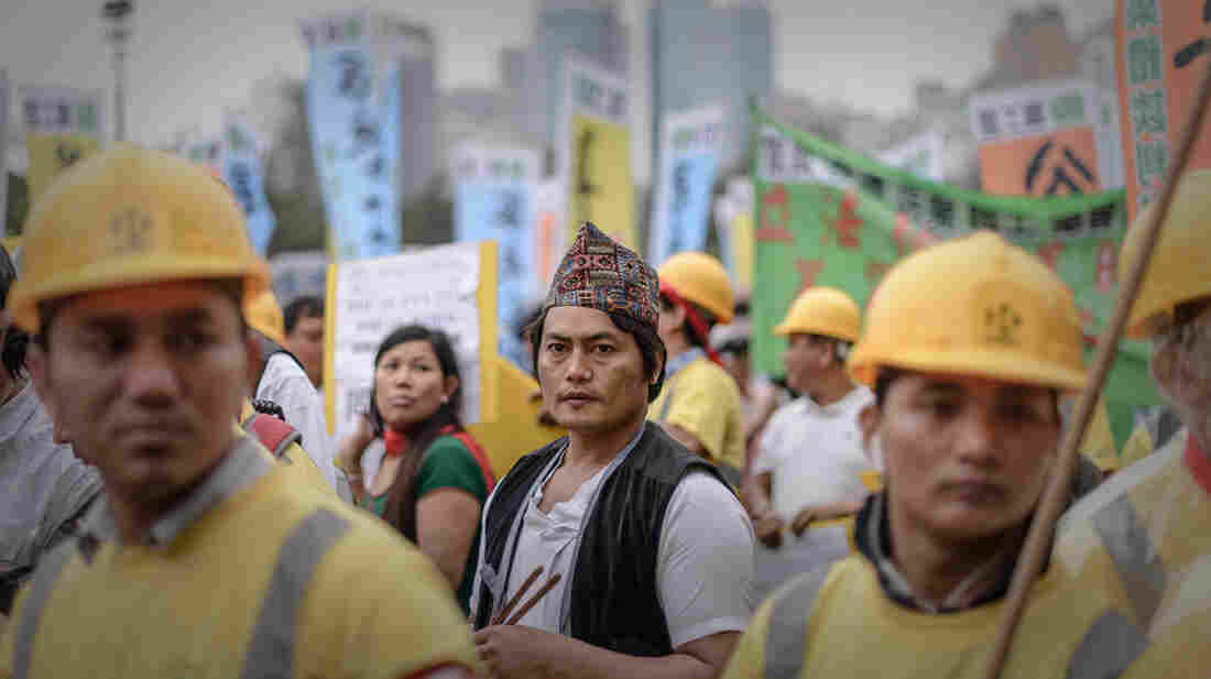 Migrant workers from Nepal take part in a Labor Day rally in Hong Kong in May. This week, the United Nations holds a high-level meeting on issues related to worldwide migration.