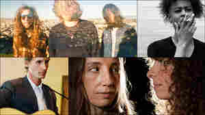 Clockwise from upper left: Danny Brown, Fuzz, The Blow, Tom Brosseau