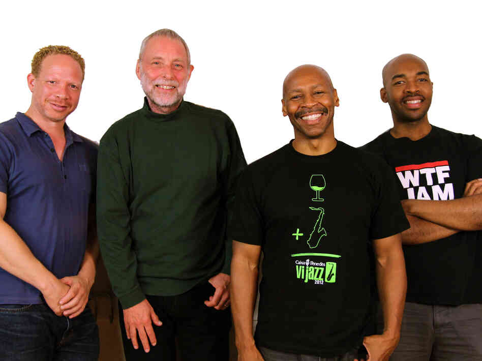 Left to right: Craig Taborn (piano), Dave Holland (bass), Kevin Eubanks (electric guitar), Eric Harland (drums).