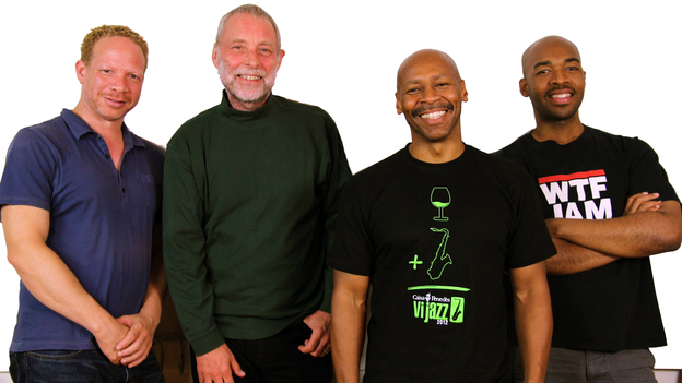 Left to right: Craig Taborn (piano), Dave Holland (bass), Kevin Eubanks (electric guitar), Eric Harland (drums). (Courtesy of the artist)