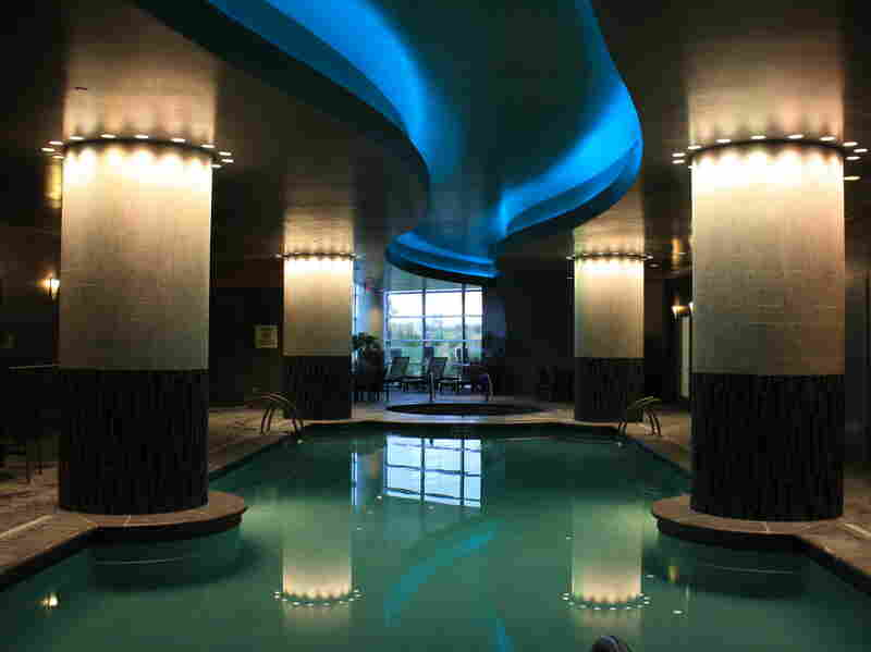 The hotel pool at the Kalispel Tribe's Northern Quest Resort and Casino.