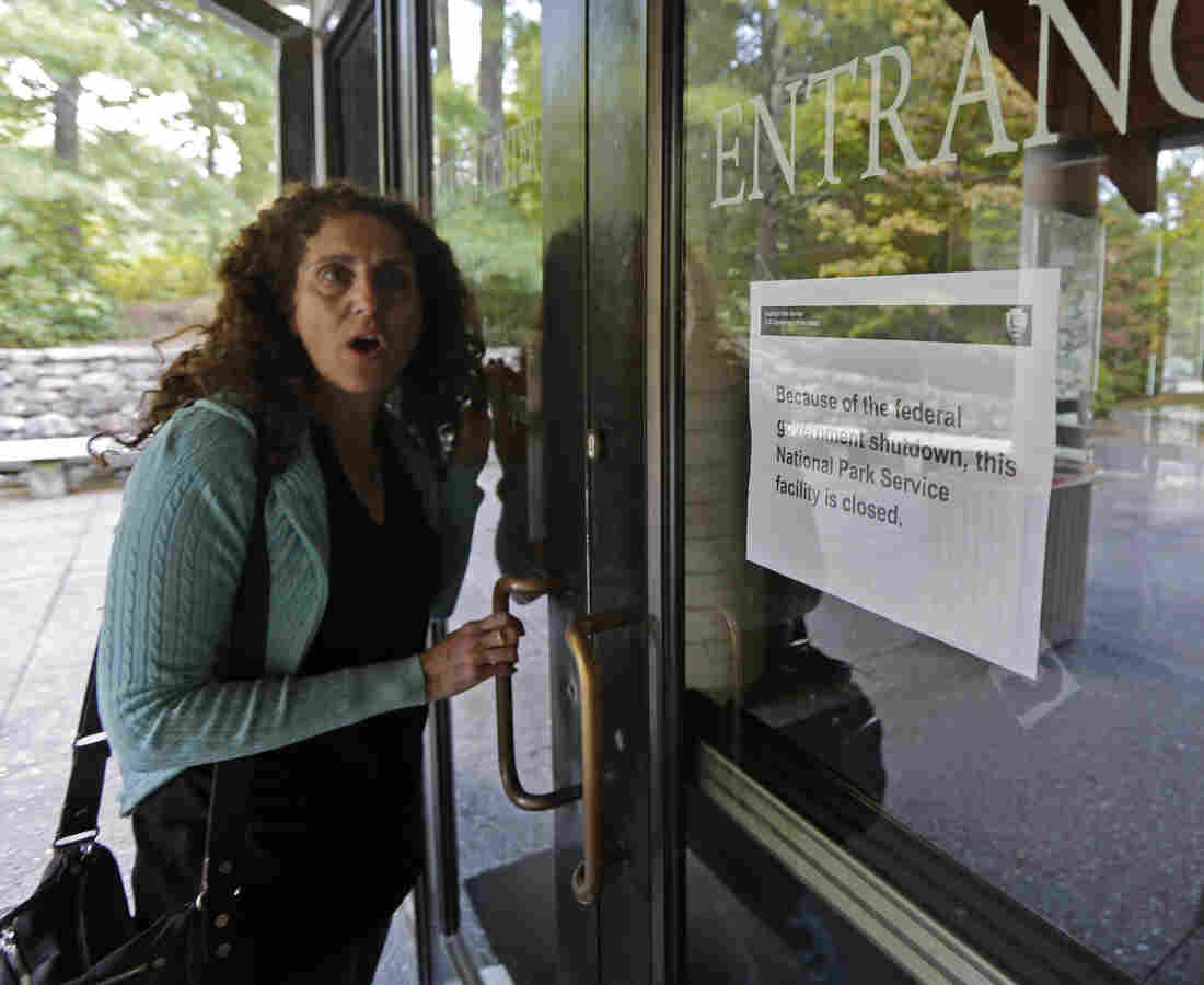 A visitor to the federally run Folk Art Center in Asheville, N.C., on Tuesday expressed the dismay many felt because of the government shutdown.