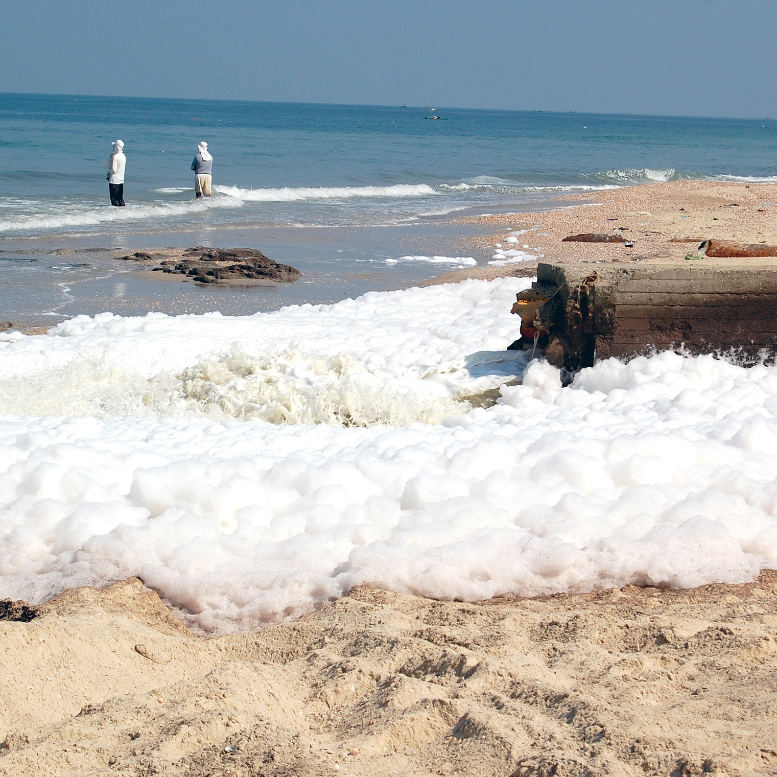 Untreated sewage from Gaza flows directly into the Mediterranean Sea. This has long been a problem, but authorities say the amount of untreated sewage being dumped into the sea had been falling before the current fuel crisis.