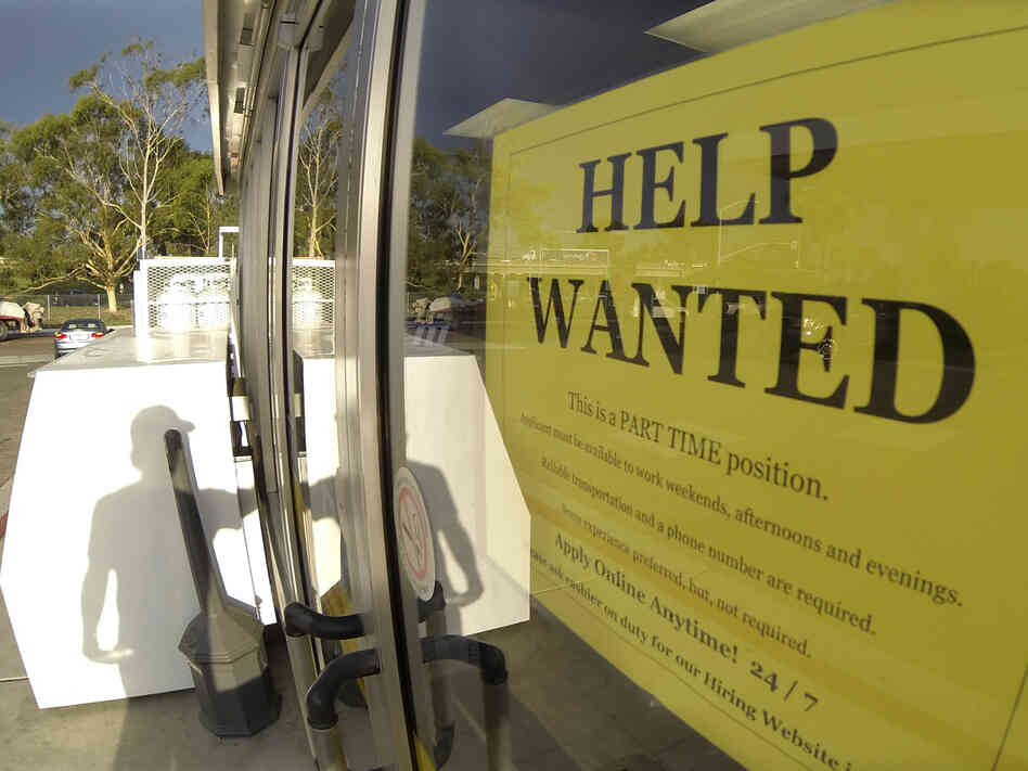 This gas station in Encinitas, Calif., was looking to hire last month.