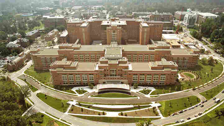 The Clinical Center at the National Institutes of Health in Bethesda, Md.