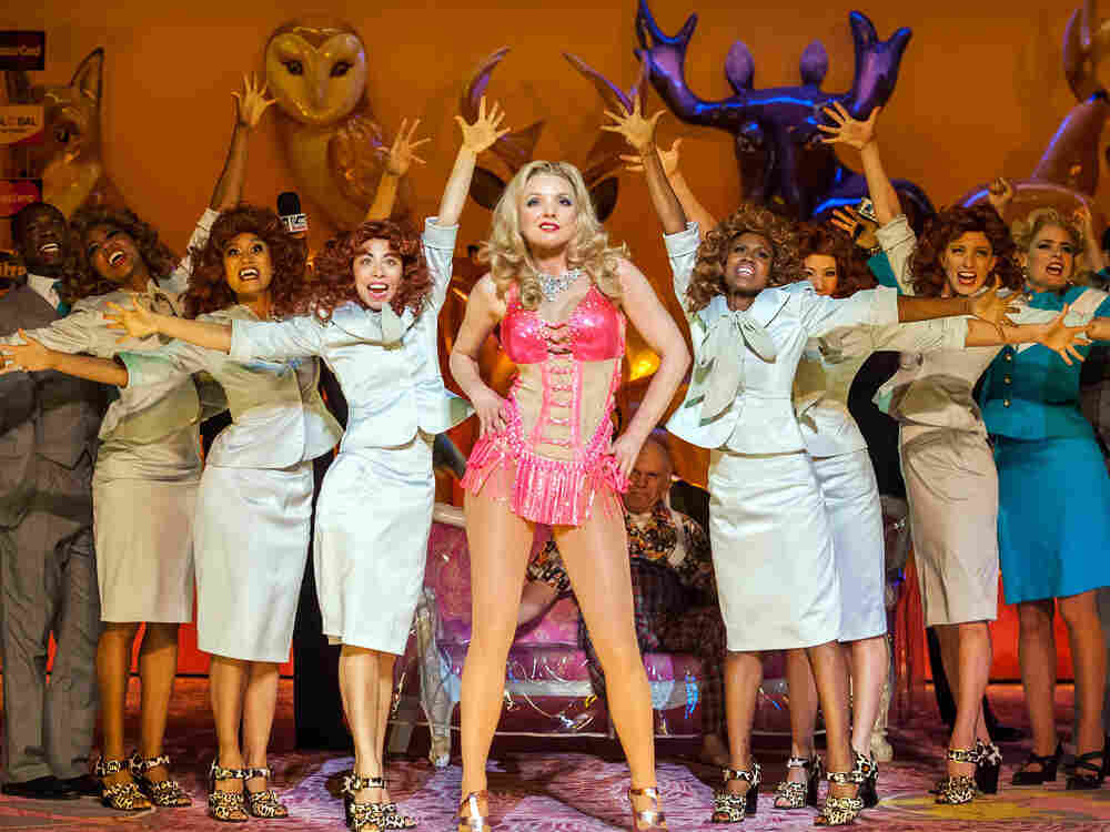 The New York City Opera let its final curtain fall Saturday night at the Brooklyn Academy of Music in a production of Anna Nicole by Mark-Anthony Turnage.