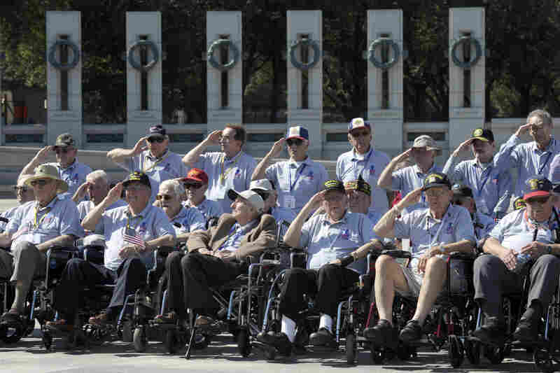 World War II veterans from the Chicago area, and others, were granted access to the National World War II Memorial on Wednesday, despite the shutdown.