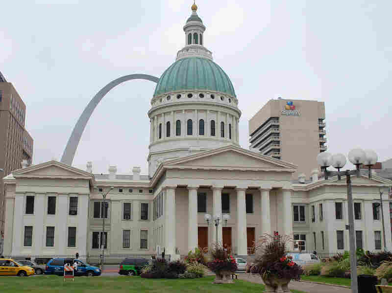 The Gateway Arch and the Old Courthouse, where the Dred Scott slavery case was tried, are part of the Jefferson National Expansion Memorial and have been closed as a result of the shutdown.