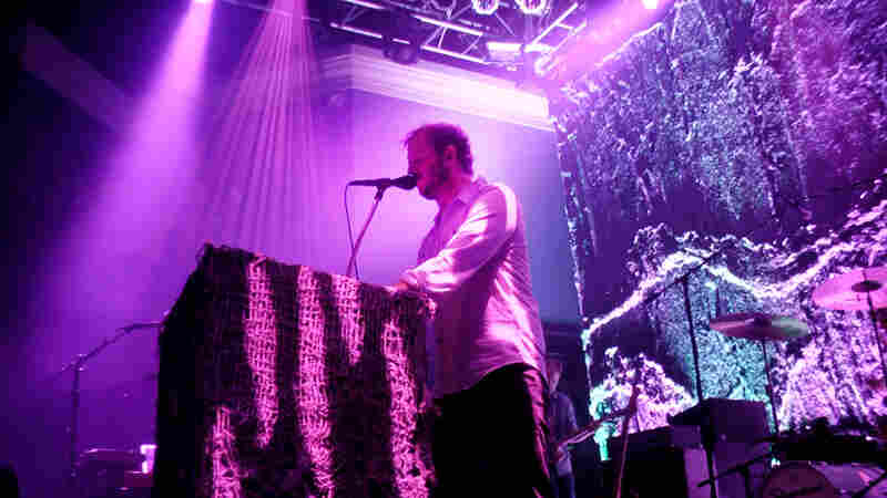 On September 12, 2013, Volcano Choir performed at the 9:30 Club in Washington, D.C. Justin Vernon is pictured here.