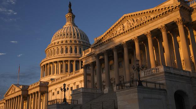 The morning sun illuminates the U.S. Capitol on Monday. (AP)