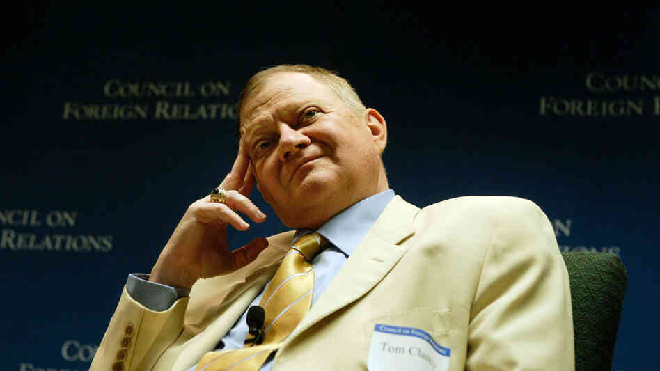 Author Tom Clancy, seen in 2004, was an insurance agent before publishing The Hunt For Red October in 1984.