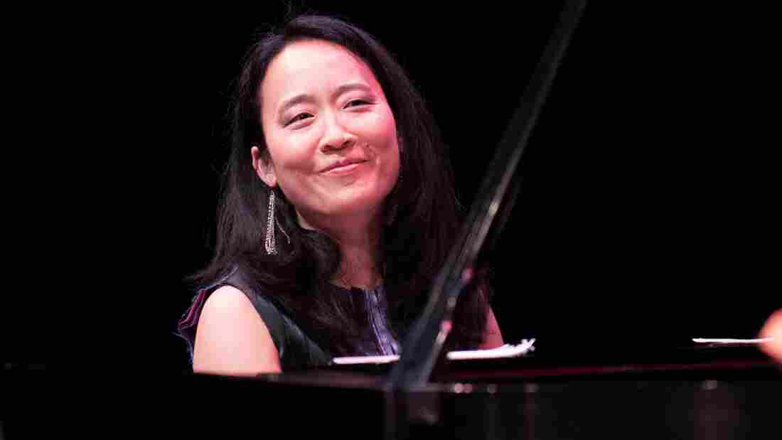 Helen Sung performs at the Mary Lou Williams Women in Jazz Festival at the Kennedy Center.