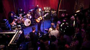 Jim James and his band perform live at Apogee's Berkeley Street Studios in Santa Monica, Calif.