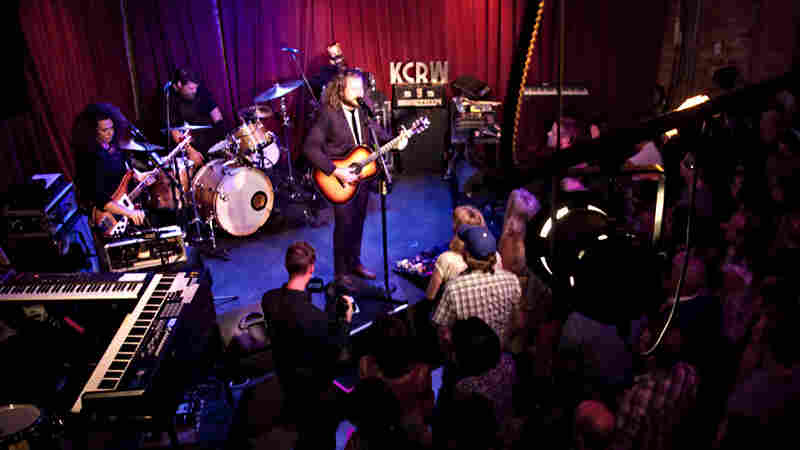 Jim James and his band perform live at Apogee's Berkeley Street Studios in Santa Monica, Calif.