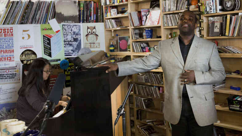 Lawrence Brownlee performs a Tiny Desk Concert in June 2013.