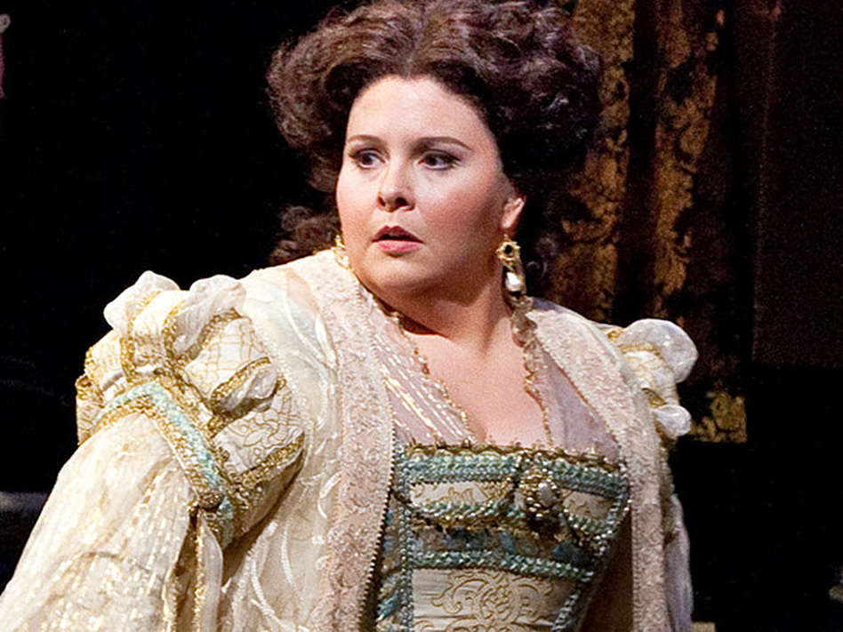 Soprano Angela Meade made her professional debut in the role of Elvira in Verdi's <em>Ernani</em> at the Metropolitan Opera.