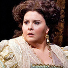 Soprano Angela Meade made her professional debut in the role of Elvira in Verdi's Ernani at the Metropolitan Opera.