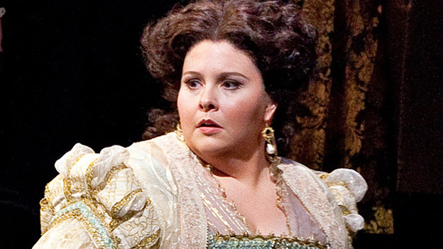 Soprano Angela Meade made her professional debut in the role of Elvira in Verdi's Ernani at the Metropolitan Opera. (Metropolitan Opera)