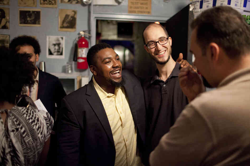 Backstage, Dezron Douglas and guest Steve Lehman chat with host Josh Jackson.