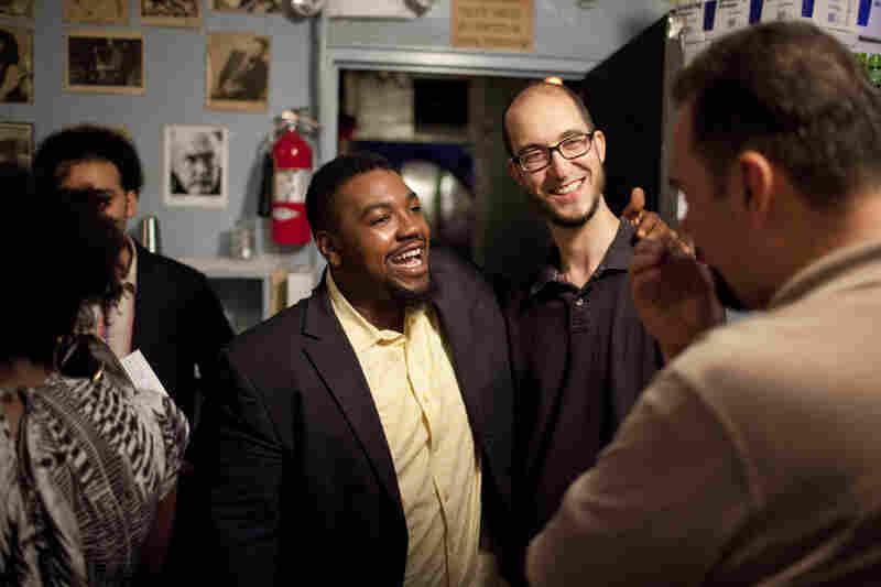 Backstage, Dezron Douglas and guest Steve Lehman chat with host Josh Jackson.