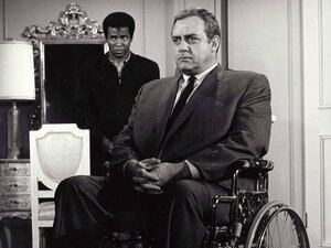 The original Ironside starred Raymond Burr as a detective who became a paraplegic after being shot in the line of duty.