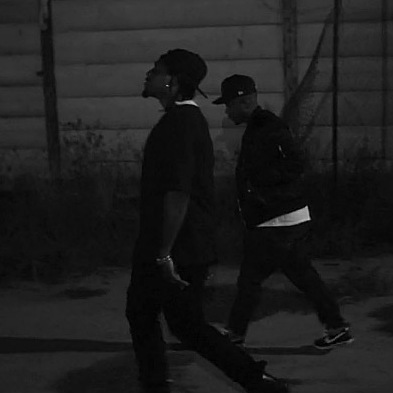 "Pusha T and Kendrick Lamar in the video for ""Nosetalgia."""
