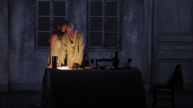 Barbara Hannigan and Bejun Mehta in the Festival at Aix production of Written on Skin. (ArtComArt)