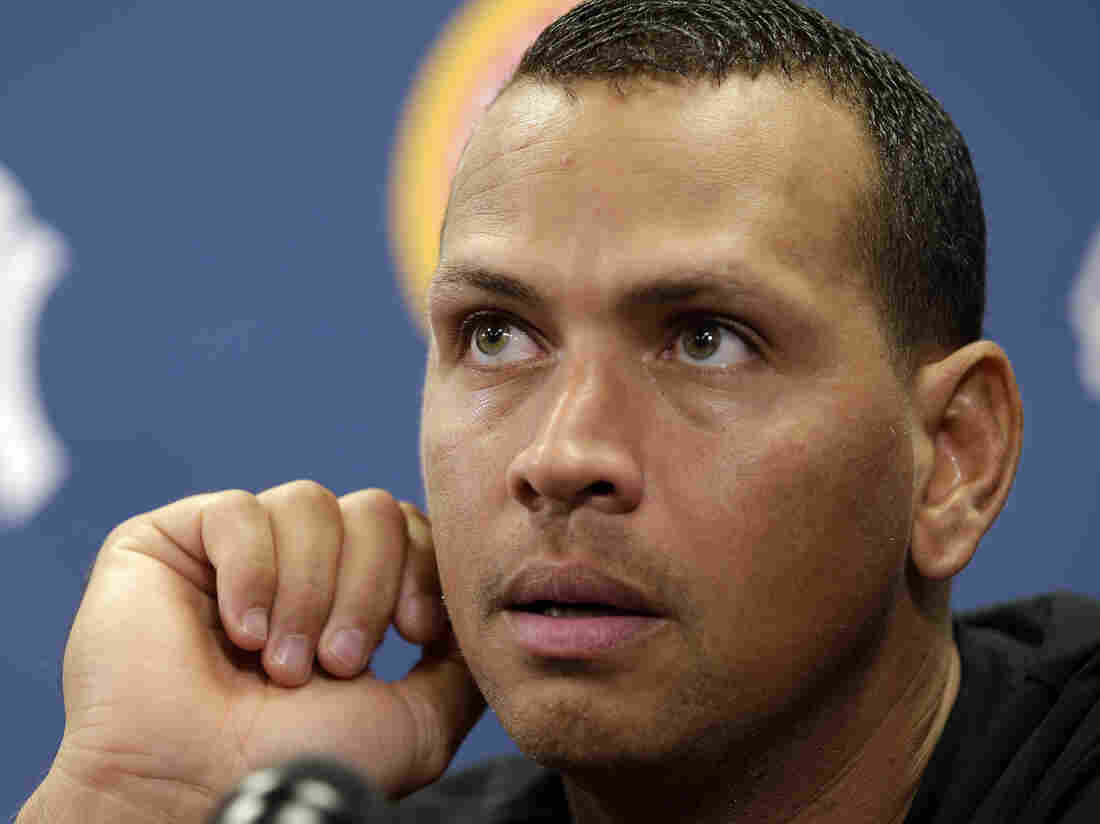 He's waiting to hear his fate: New York Yankees third baseman Alex Rodriguez.