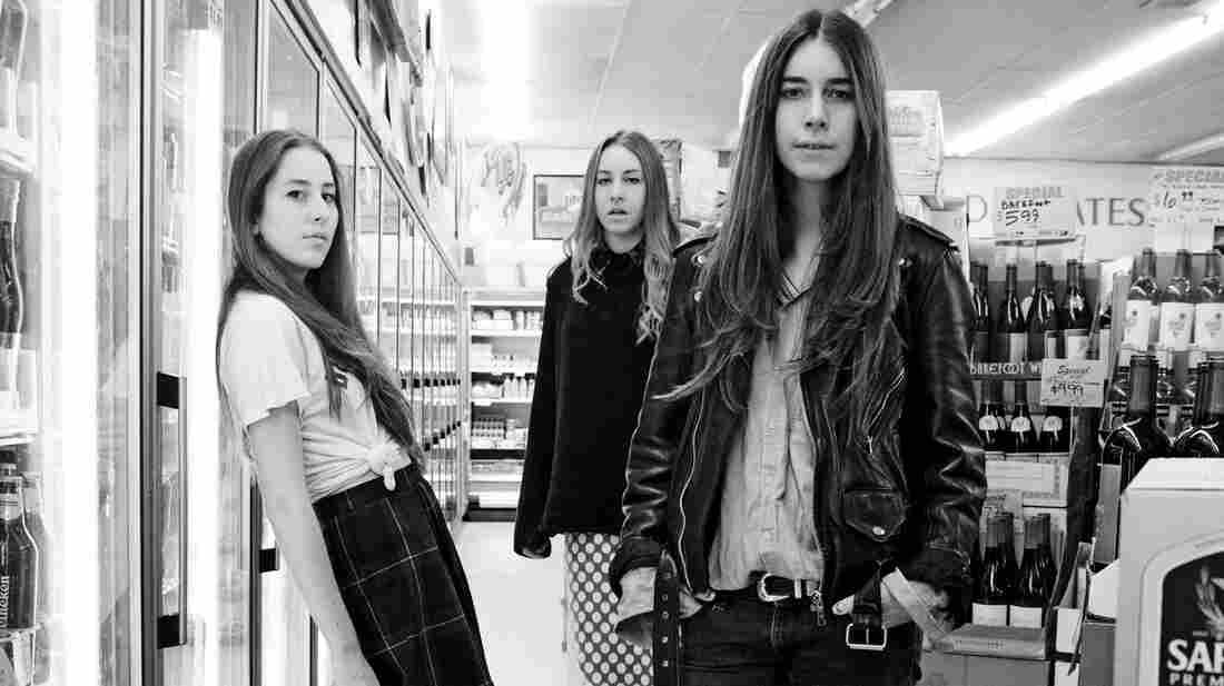 HAIM's debut album, Days Are Gone, is out now. Left to right: Alana Haim, Este Haim, Danielle Haim.