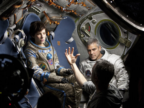 Bullock, on the Gravity set with co-star George Clooney and director Alfonso Cuaron, spent most of the shoot alone, in a box, to create the required sense of isolation and weightlessness.