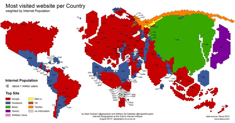 Google vs facebook a map of global conquest the two way npr google vs facebook a map of global conquest gumiabroncs Image collections