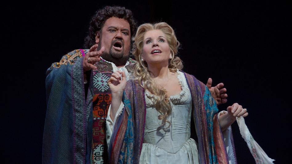 Johan Botha as the title character and Renée Fleming as Desdemona in the Metropolitan Opera's fall 2012 run of Verdi's Otello. (Metropolitan Opera)