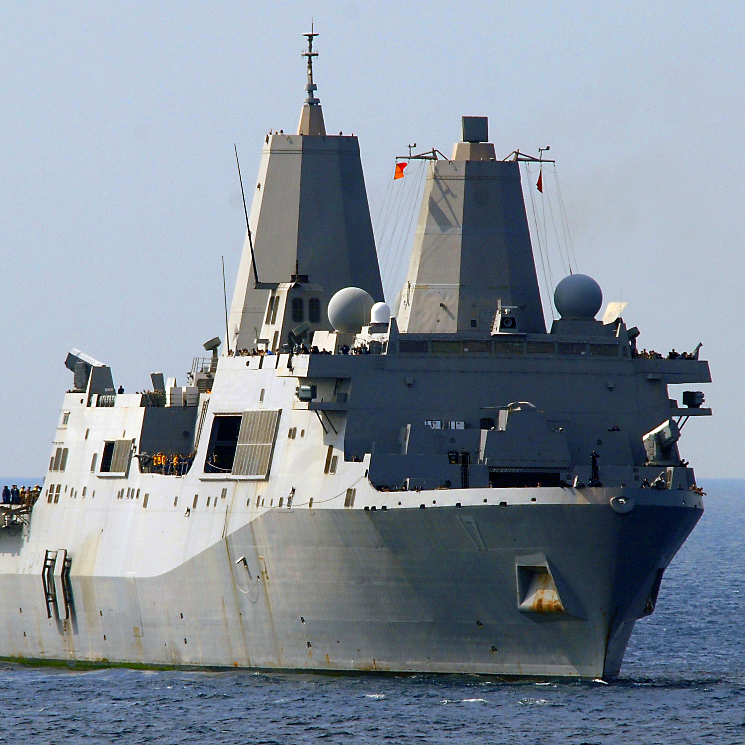 Terror suspect Abu Anas al-Libi is reportedly being questioned on the USS San Antonio in the Mediterranean after he was seized in Libya on Saturday. The transport ship is shown here in a 2009 photo.