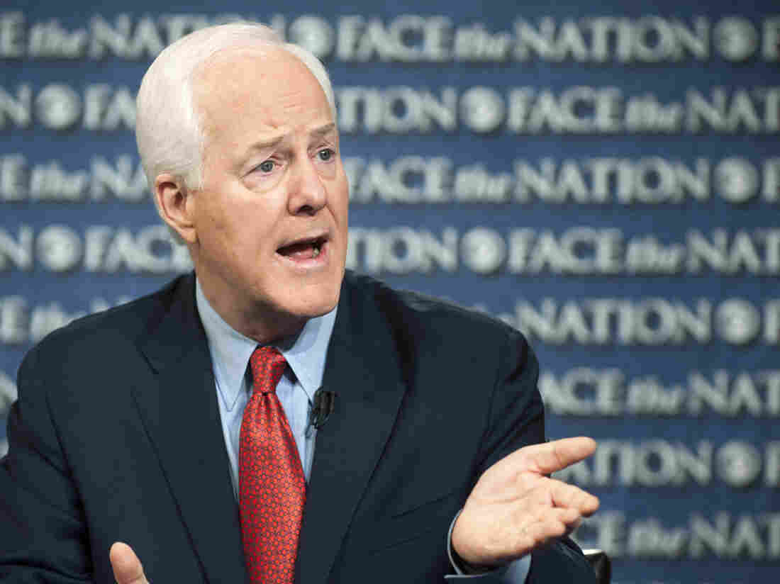 Texas Republican Sen. John Cornyn speaks on CBS's Face the Nation on Sunday. Cornyn said the partial federal government shutdown cannot end unless President Obama sits down with congressional Republicans.