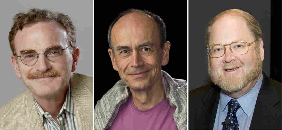 From left: Randy Schekman, Thomas Suedhof and James Rothman shared the 2013 Nobel Prize in Physiology or Medicine.