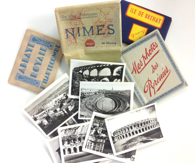 Some vintage photo souvenirs I found at the Marche Beauvau-Aligre in Paris