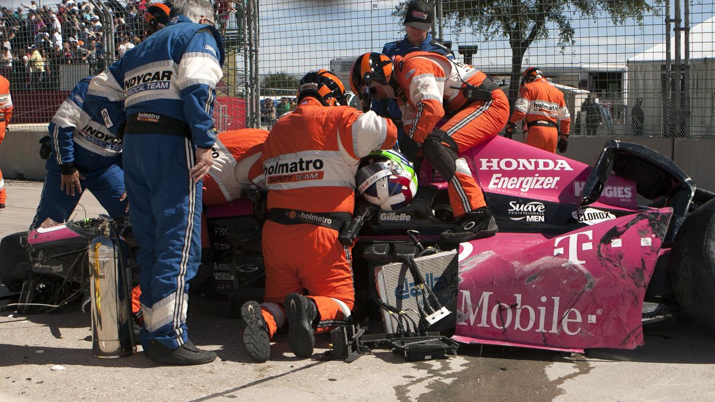Fan's Video Captures Scary Scene Of Franchitti's IndyCar Crash