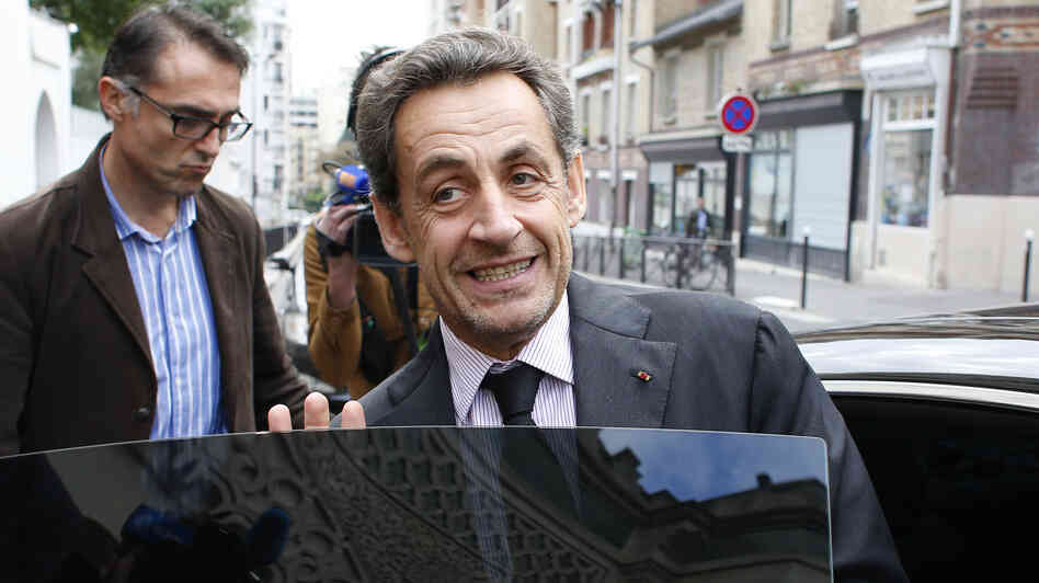 The decision to dismiss charges against former French President Nicolas Sarkozy, seen here in Paris Monday, could