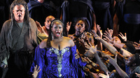 In his operas, Giuseppe Verdi had a knack for empowering  marginalized people — like the title character of Aida, who is an enslaved Ethiopian princess (played in this 2011 French production by American soprano Indra Thomas).