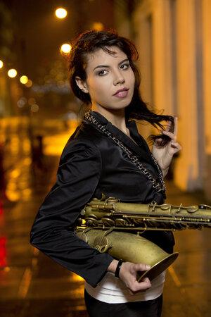 Melissa Aldana, 24, took after her father in pursuing jazz saxophone.