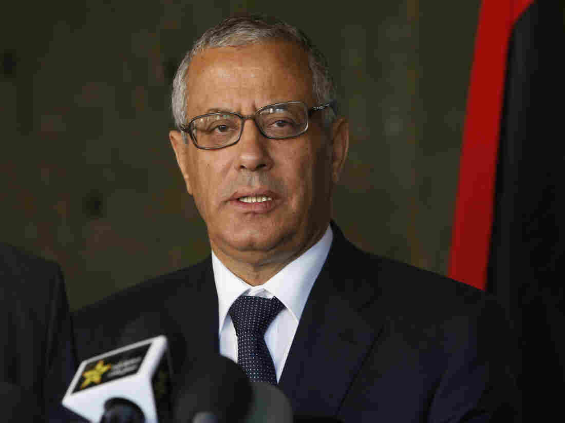 Libyan Prime Minister Ali Zeidan speaks to the media during a news conference in Rabat, Morocco, on Tuesday, where he talked about the U.S. action to nab an al-Qaida operative in Tripoli.