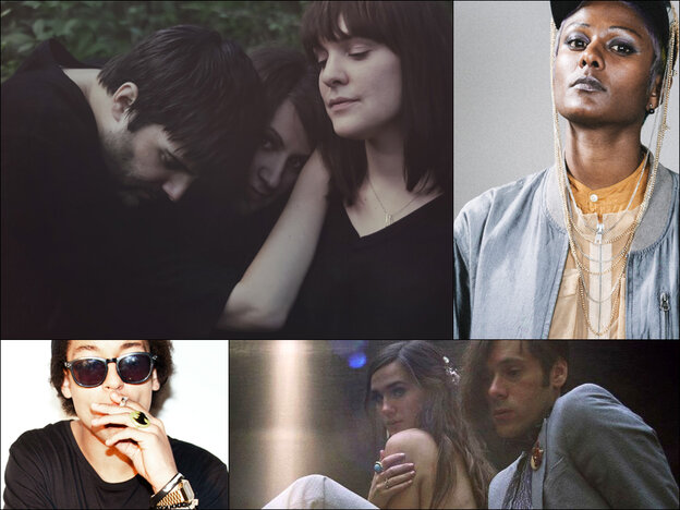 Clockwise from upper left: Gem Club, Perera Elsewhere, Of Montreal, Remi